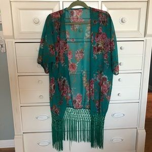 Other - Fun colorful tassel coverup